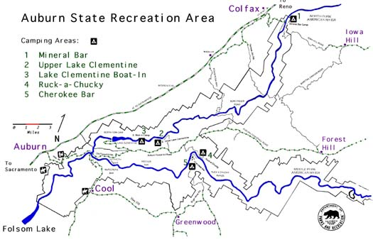 Top ten trails of auburn state recreation area for Lake clementine fishing